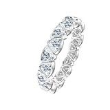Золотое кольцо Триллионка в белом цвете с бриллиантами