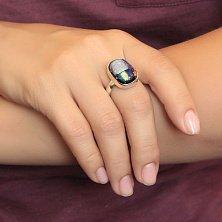 Серебряное кольцо Спектр с имитацией опала