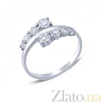 Серебряное кольцо с фианитами Вайнона AQA--10034