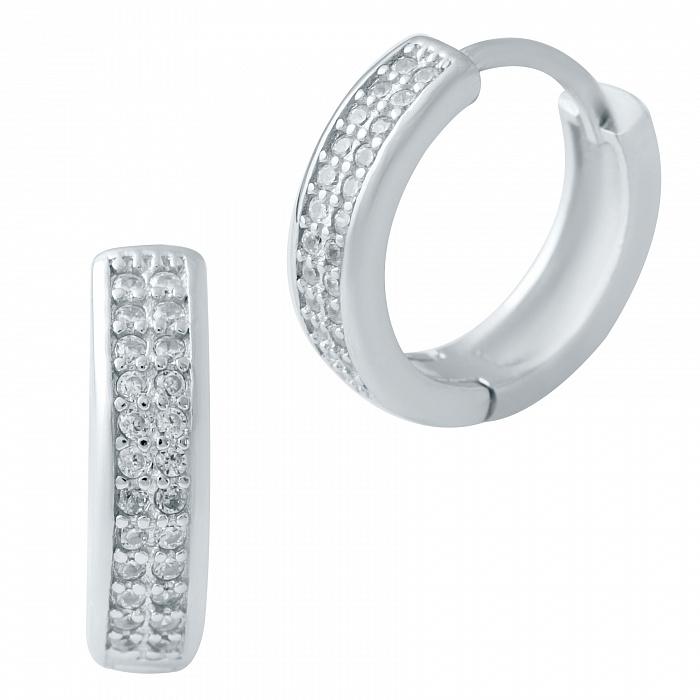 Серебряные серьги Дина с фианитами 000078055