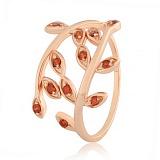 Серебряное кольцо с красными фианитами Лавр