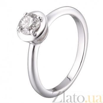 Золотое кольцо с бриллиантом Erma R0568/бел