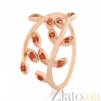 Серебряное кольцо с красными фианитами Лавр 000025564