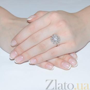Золотое кольцо с бриллиантами в белом цвете R 0751