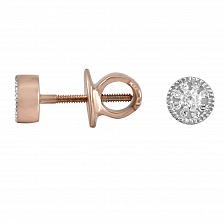 Серьги-пуссеты из золота Ева с бриллиантами