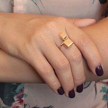 Кольцо в красном золоте Кубики
