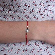 Шелковый браслет со вставкой Верное сердце