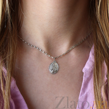 Серебряная ладанка Богородица 18*13 TNG--100512С