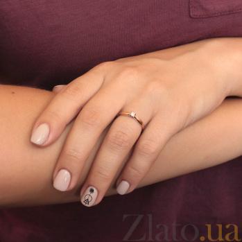 Помолвочное кольцо в красном золоте Юнита с бриллиантом 000078672