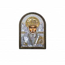 Николай Чудотворец икона серебро позолота