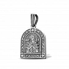 Серебряная подвеска Божья Матерь