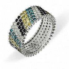 Золотое кольцо с бриллиантами Mosaic