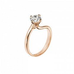 Кольцо в красном золоте Айседора с бриллиантом