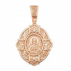 Ладанка из красного золота Божья Матерь 000134762