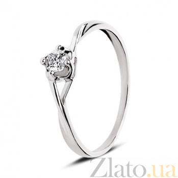 Кольцо из белого золота с бриллиантом Solo 110314к