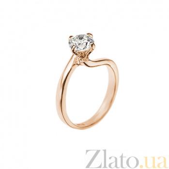 Кольцо в красном золоте Айседора с бриллиантом 000079251