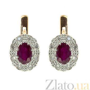 Серьги из красного золота с рубинами и бриллиантами Габриэлла ZMX--ER-5503_K
