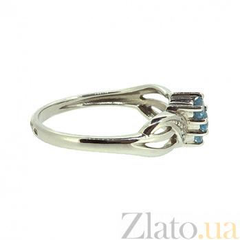 Золотое кольцо в белом цвете с топазами и бриллиантами Джулианна ZMX--RT-6053w_K