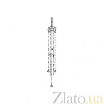 Золотой подвес с бриллиантами Струящийся водопад 000027284