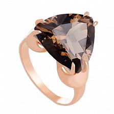 Золотое кольцо Статус с гидротермальным раухтопазом