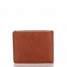 Кожаный кошелек-книжка Genuine Leather pt0557 коньячного цвета без отделения для монет