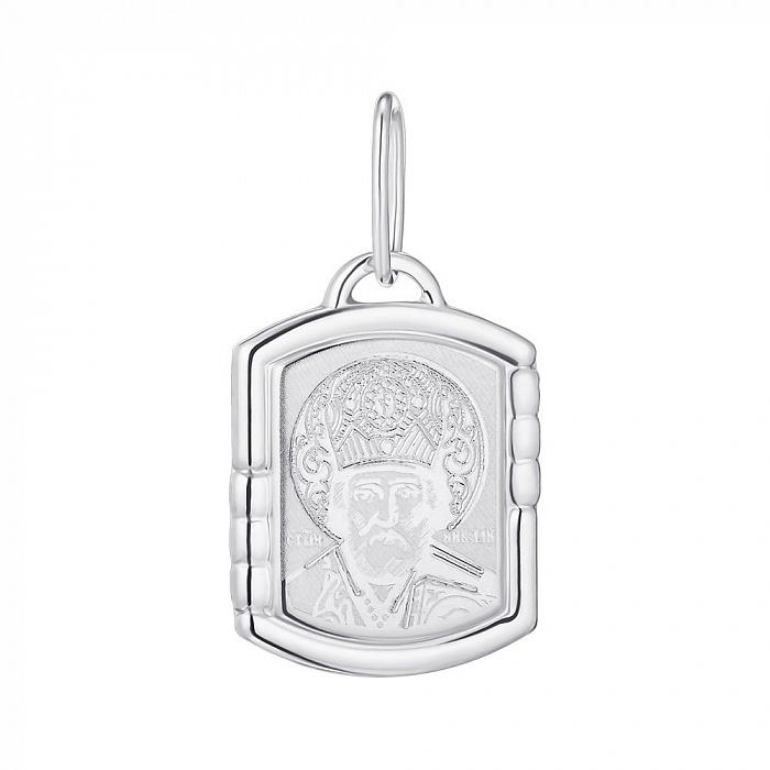 Серебряная ладанка Святой Николай Чудотворец 000135375 000135375