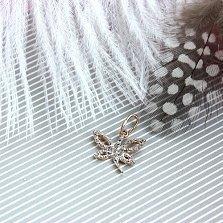 Золотая подвеска Танец сияющей бабочки с фианитами