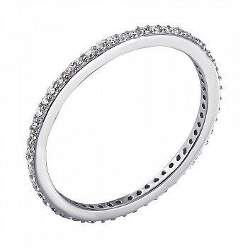 Серебряное кольцо Элейн с фианитами 000033814