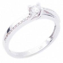 Золотое кольцо с бриллиантами Вечная любовь