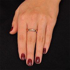Золотое кольцо Знак любви с бриллиантом
