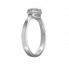 Помолвочное кольцо Нилла из белого золота с бриллиантом