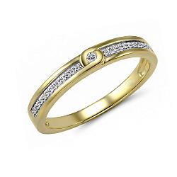Обручальное кольцо из желтого золота Милада с бриллиантами