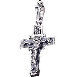 Крест из серебра Очищение с чернением 000038800