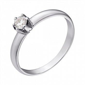 Кольцо из белого золота с бриллиантом, 0,18ct 000034606