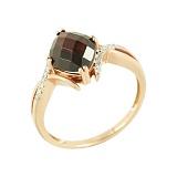 Золотое кольцо с аметистом и бриллиантами Ореанда