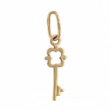 Золотой кулон Винтажный ключик