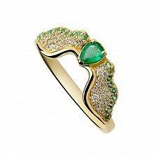 Золотое кольцо с изумрудами и бриллиантами Эмпирея