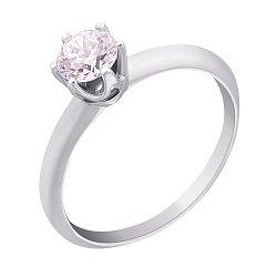 Кольцо из белого золота Вечная любовь