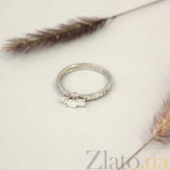 Золотое кольцо Великолепие в белом цвете с фианитами 000082835