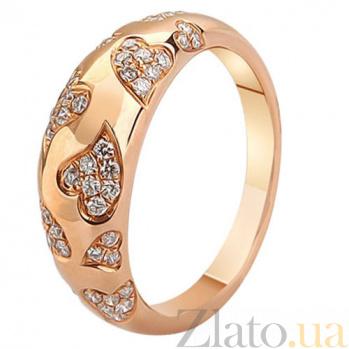 Золотое кольцо с бриллиантами Дама сердца KBL--К1962/крас/брил