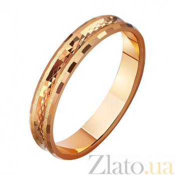 Золотое обручальное кольцо Безграничные чувства TRF--411035