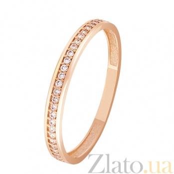 Кольцо в красном золоте Марина с фианитами SVA--1102146101/Фианит/Цирконий