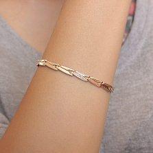 Золотой браслет Кларисса фантазийного плетения, 5мм