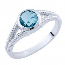 Серебряное кольцо Мануэла с топазом лондон