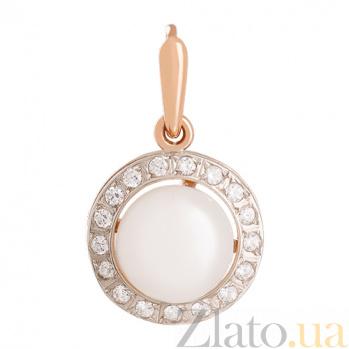 Золотой подвес с жемчугом и фианитами Аэлита VLN--214-912