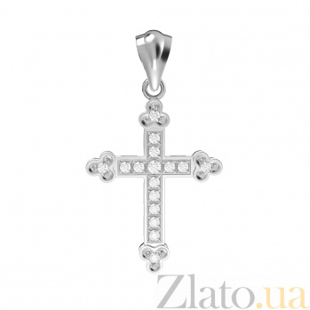 Золотой крестик с бриллиантами Душевная гармония VLA--32889
