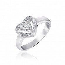 Серебряное кольцо Amore с фианитами