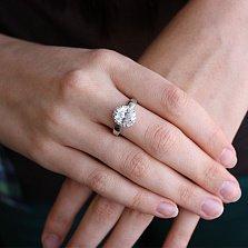 Серебряное кольцо с фианитами Мерьем