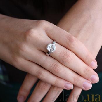 Серебряное кольцо с фианитами Мерьем 000029159
