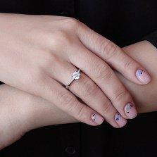 Кольцо из белого золота Милая с бриллиантом 1ct
